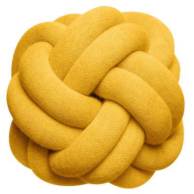 Coussin Knot / Fait main - 30 x 30 cm - Design House Stockholm orange en tissu