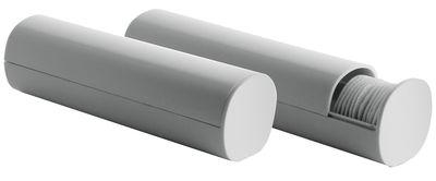 Distributeur de disques coton Birillo - Alessi blanc en matière plastique