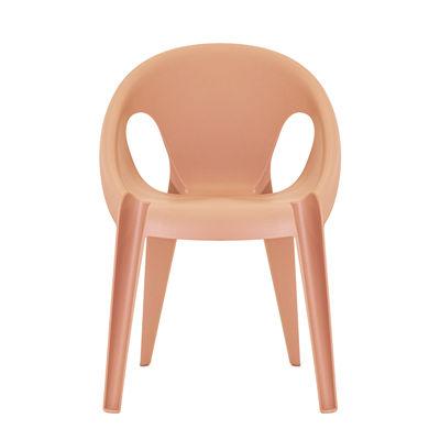 Mobilier - Chaises, fauteuils de salle à manger - Fauteuil empilable Bell / By Konstantin Grcic / Polypropylène recyclé - Eco-conçu - Magis - Orange Sunrise - Polypropylène recyclé