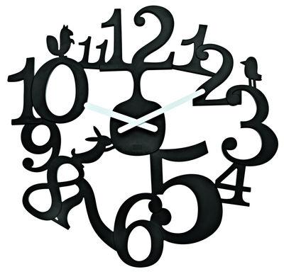 Horloge murale PI:P - Koziol noir en matière plastique