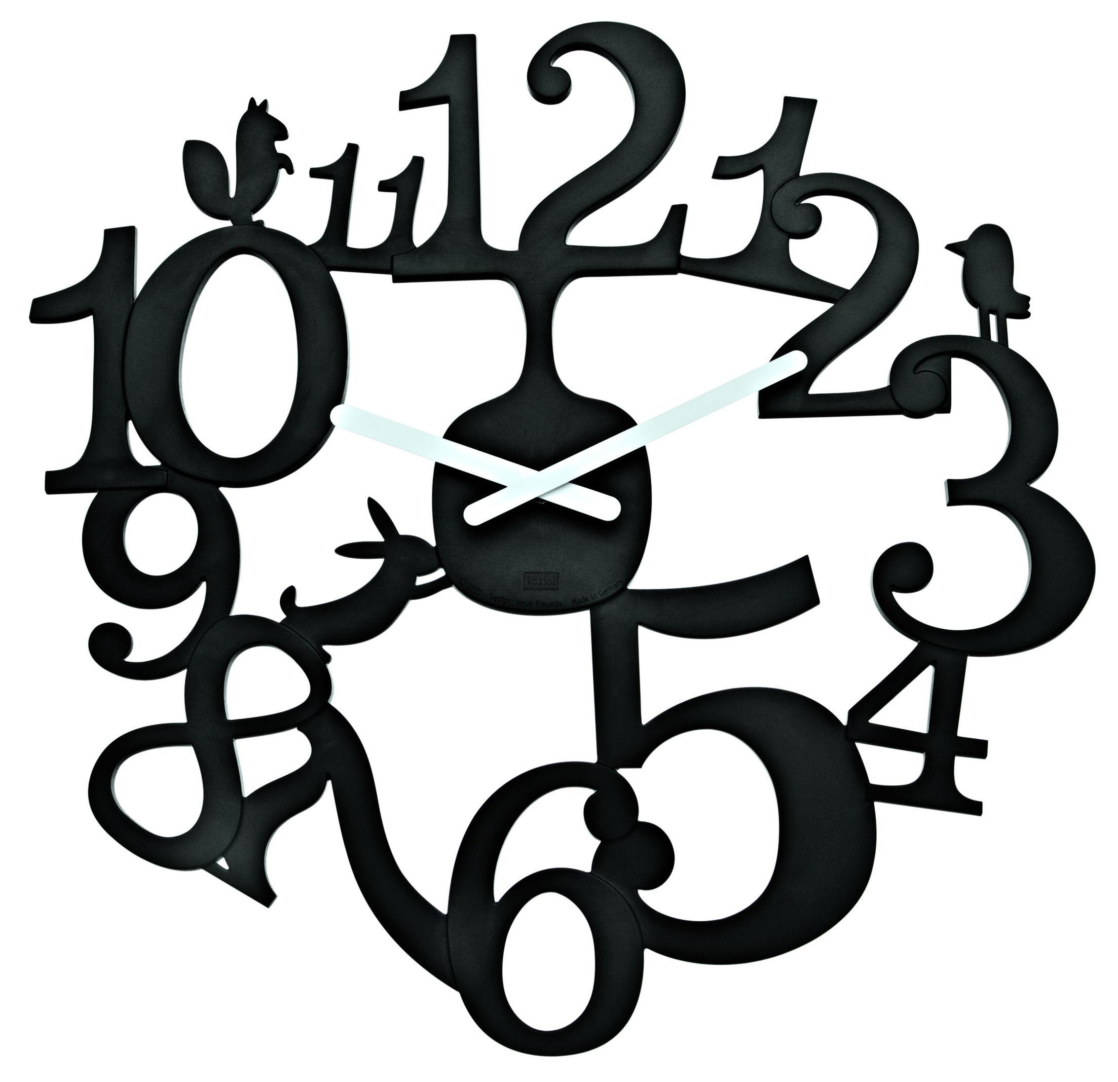Déco - Horloges  - Horloge murale PI:P - Koziol - Noir - Matière plastique