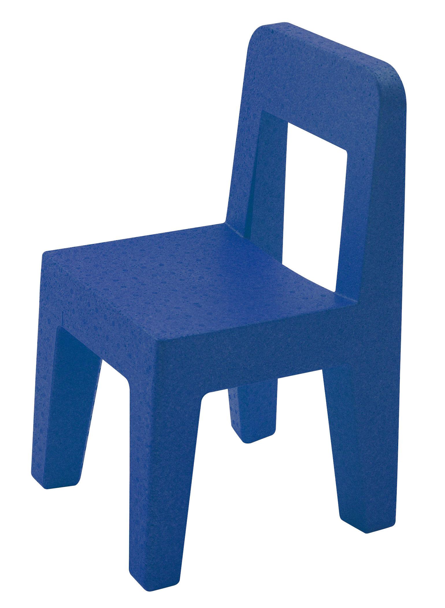 Möbel - Möbel für Kinder - Seggiolina Pop Kinderstuhl - Magis Collection Me Too - Blau - Polypropylen