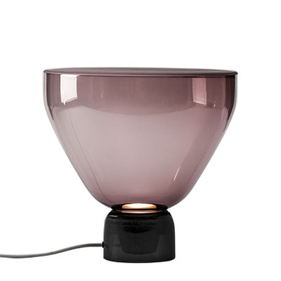 Image of Lampada da tavolo Lightline Medium - / Ø 38 x H 37 cm - Vetro di Brokis - Viola,Grigio sfumato scuro - Vetro