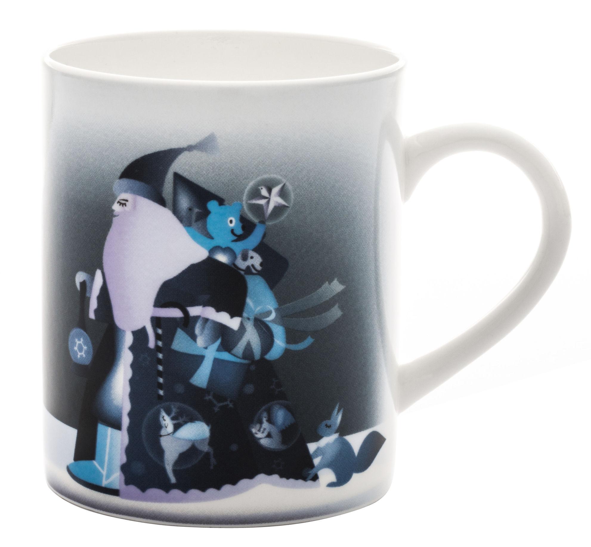 Tableware - Coffee Mugs & Tea Cups - Blue christmas Mug by A di Alessi - Father Christmas - China