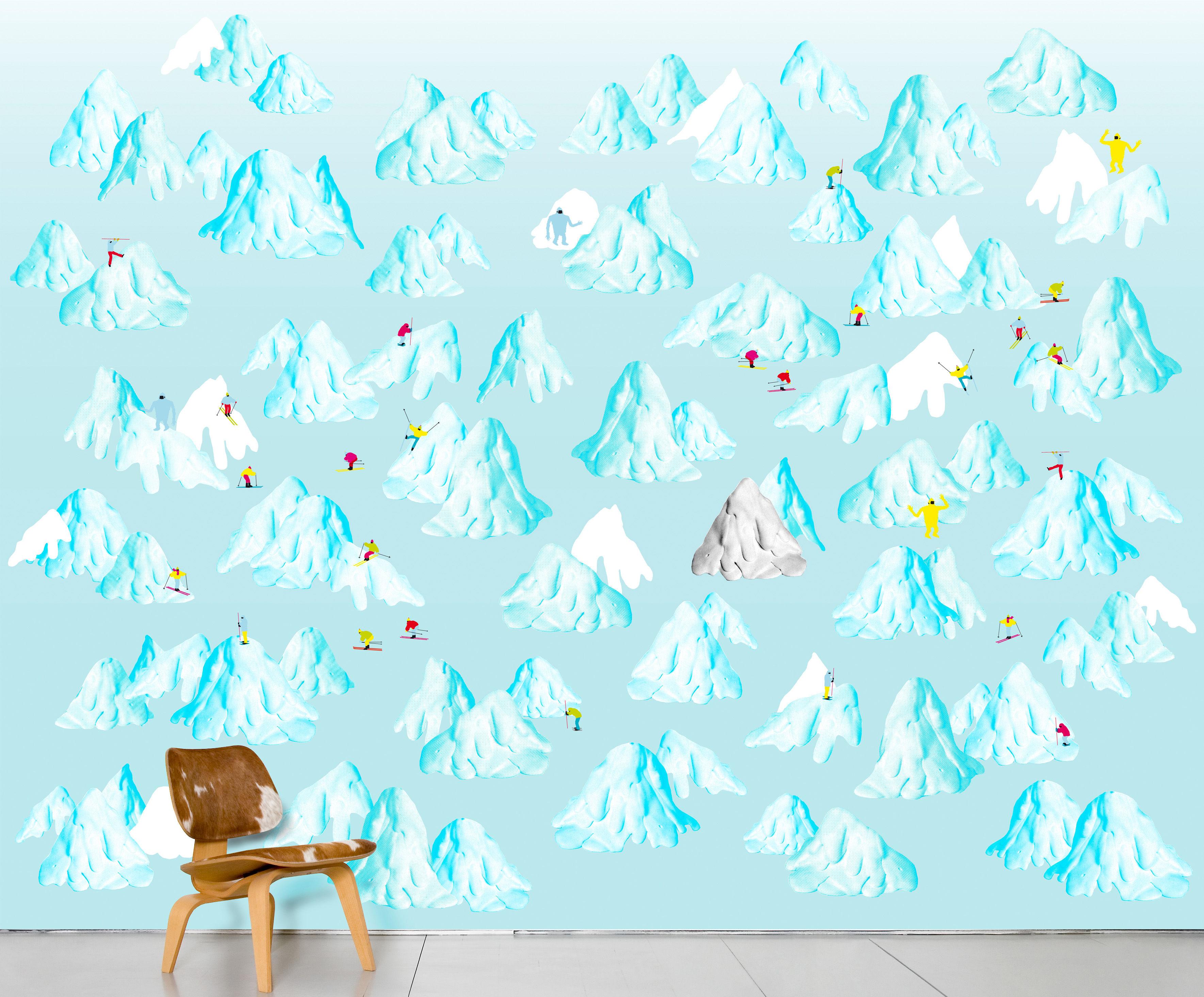 Déco - Stickers, papiers peints & posters - Papier peint panoramique Schuss / 8 lés - L 372 x H 300 cm - Domestic - Schuss - Papier intissé