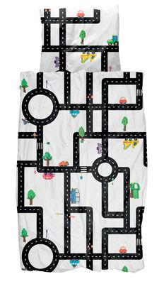 Déco - Pour les enfants - Parure de lit 1 personne Clay Traffic / 140 x 200 cm - Snurk - Routes - Coton