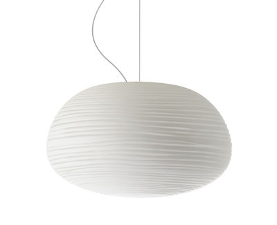Lighting - Pendant Lighting - Rituals 2 Pendant by Foscarini - White / Ø 34 x H 19 cm - Mouth blown glass