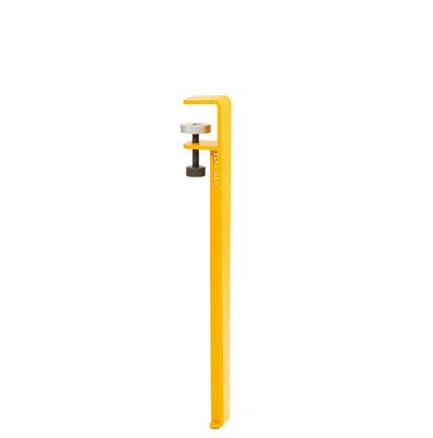 Pied avec fixation étau / H 43 cm - Pour créer tables basse & banc - TIPTOE jaune en métal