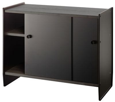 Arredamento - Raccoglitori - Portaoggetti Theca - / Alto - L 93 x H 78 cm di Magis - Legno di faggio nero / Alluminio nero - alluminio verniciato, MDF rivestito in rovere tinto