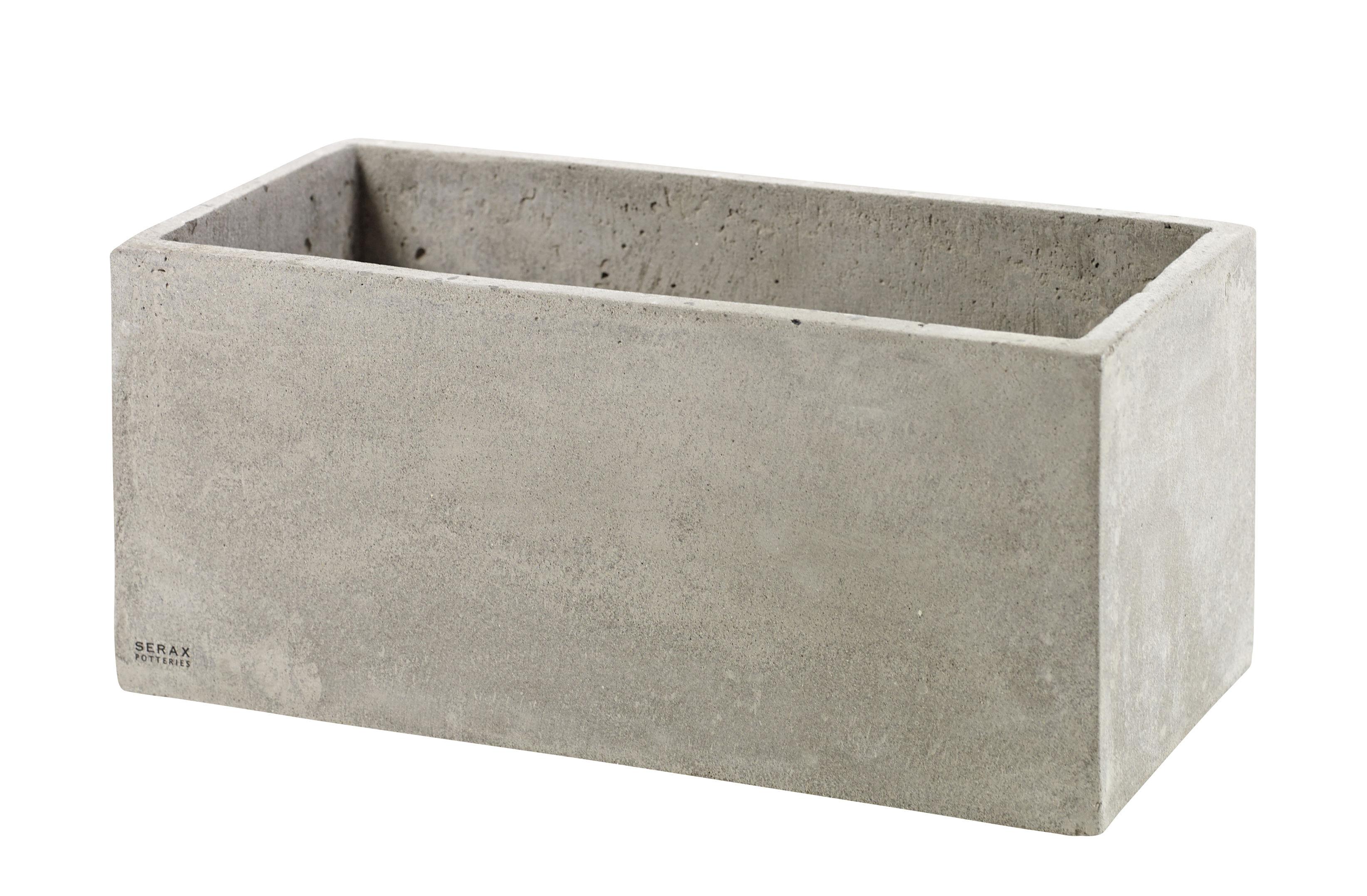 Déco - Pots et plantes - Pot de fleurs Concrete Box Rectangulaire / 29 x 14,5 cm / Pour console Herb - Serax - Rectangulaire / Ciment gris - Ciment