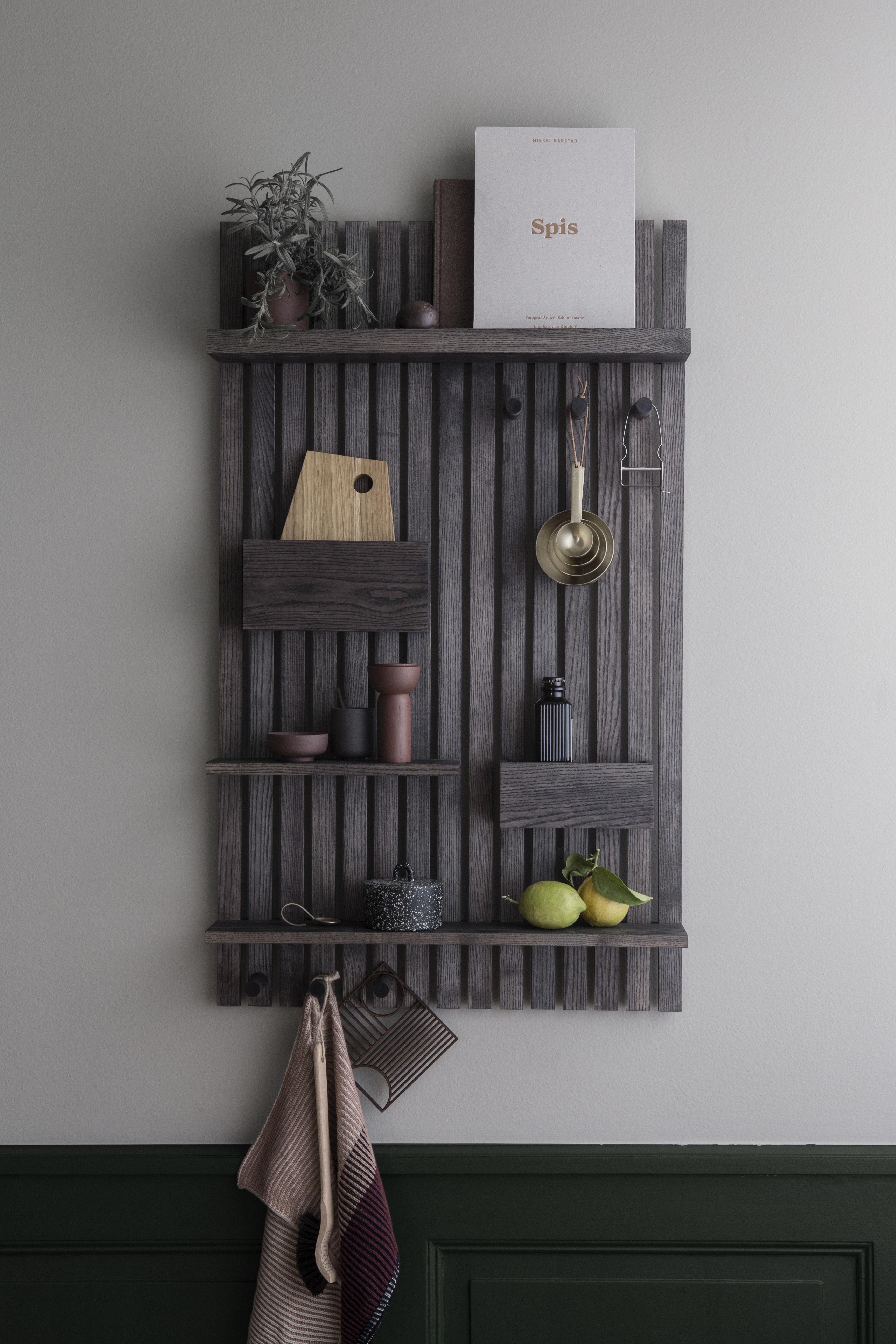 Rangement mural Wooden Ferm Living - Noir   Made In Design