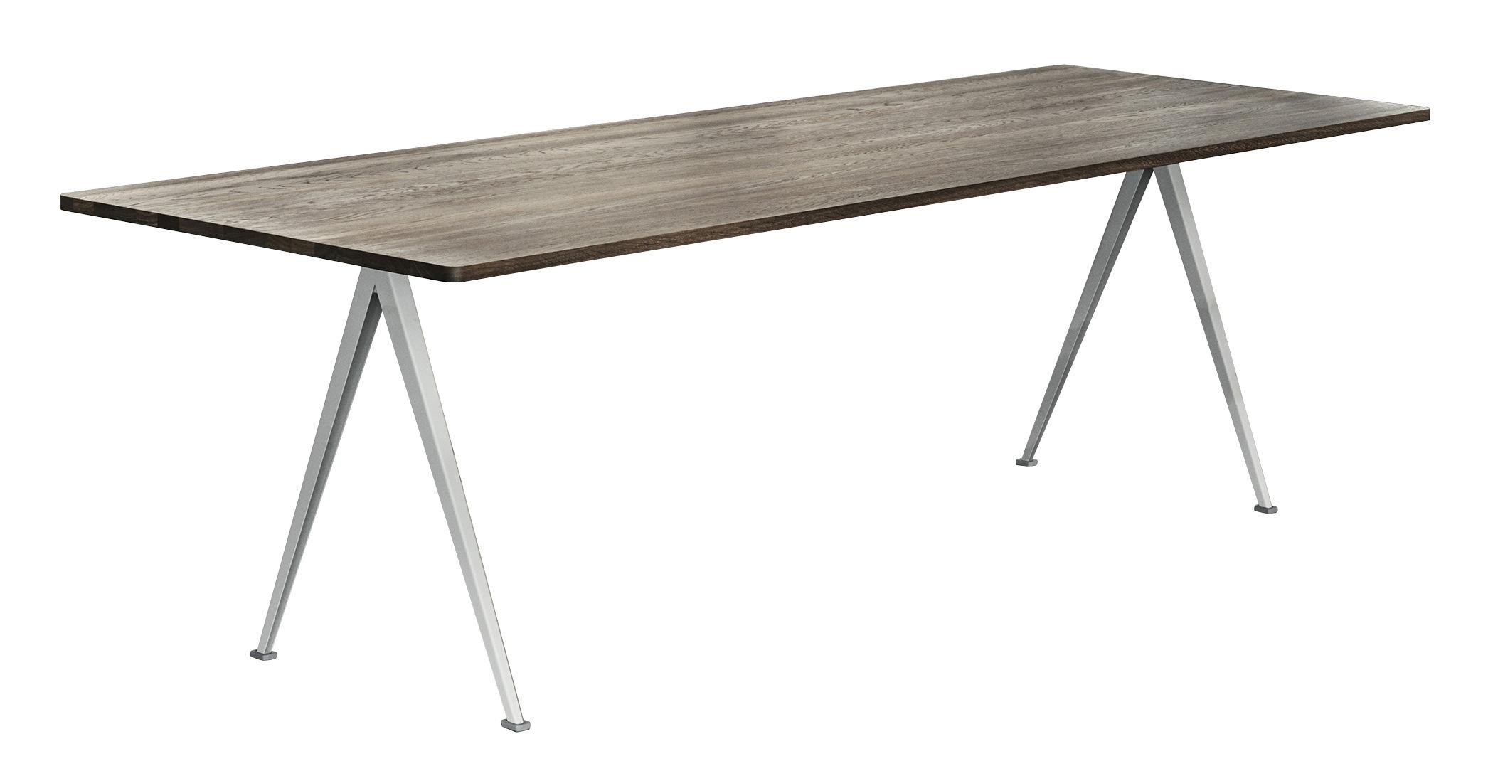 Möbel - Tische - Pyramid n°02 rechteckiger Tisch / 250 x 85 cm - Neuauflage des Originals von 1959 - Hay - 250 x 85 cm / Räuchereiche & beige - Chêne fumé, lackierter Stahl