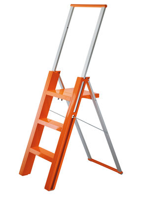 Furniture - Miscellaneous furniture - Flo' Stepladder by Magis - Aluminium - Glossy orange - ABS, Anodized aluminium