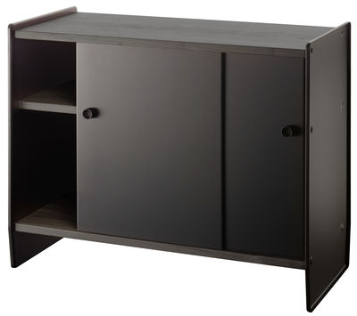 Furniture - Shelves & Storage Furniture - Theca Storage by Magis - Black ash / Black anodized aluminum - MDF veneer tinted ashwood, Painted aluminium