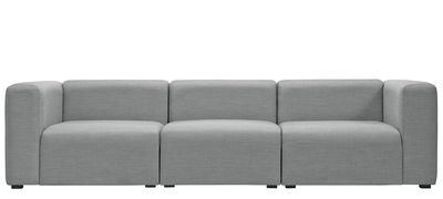Furniture - Sofas - Mags Straight sofa - 3 seaters / L 266 cm - Surface fabric by Hay - Light grey - Kvadrat fabric, Polyurethane foam, Wood