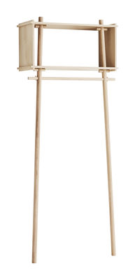 Arredamento - Scaffali e librerie - Appendino Töjbox Small / Scaffale - L 80 x H 200 cm - Woud - Rovere - Compensato di rovere, Rovere massello