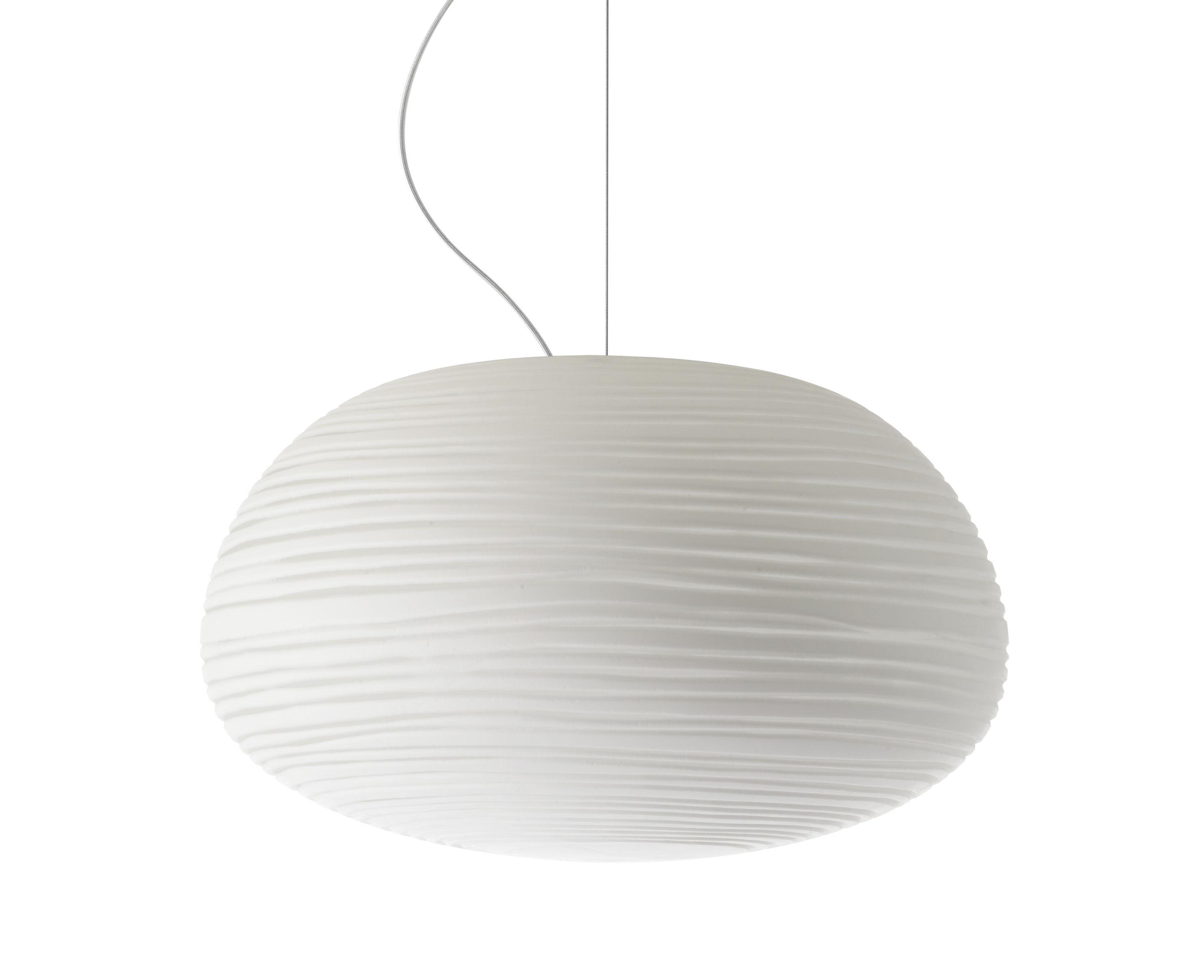 Luminaire - Suspensions - Suspension Rituals 2 / Ø 34 x H 19 cm - Foscarini - Blanc / Ø 34 x H 19 cm - Verre soufflé bouche