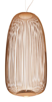 Suspension Spokes 1 / LED - Ø 32,5 x H 71 cm - Foscarini cuivre en métal