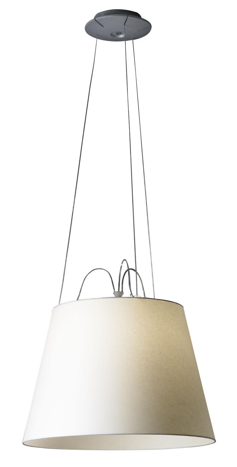suspension tolomeo mega 42 cm ecru artemide made in design. Black Bedroom Furniture Sets. Home Design Ideas