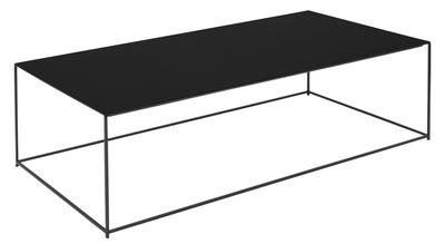 Table basse Slim Irony / 124 x 62 x H 34 cm - Zeus noir cuivré en métal