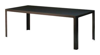 Table Metisse / Verre - 200 x 90 cm - Zeus noir en métal