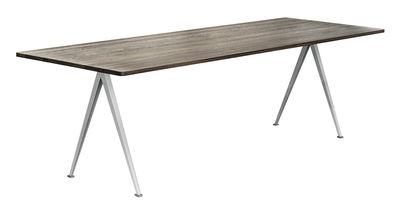 Mobilier - Tables - Table rectangulaire Pyramid n°02 / 250 x 85 cm - Rééditon 1959 - Hay - 250 x 85 / Chêne fumé & beige - Acier laqué, Chêne fumé