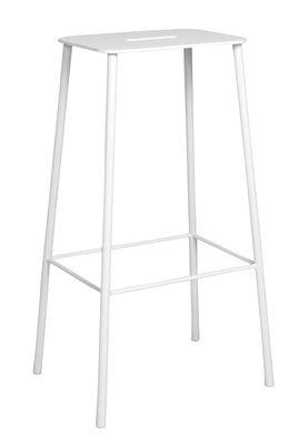 Tabouret haut Adam Outdoor / H 76 cm - Frama blanc en métal