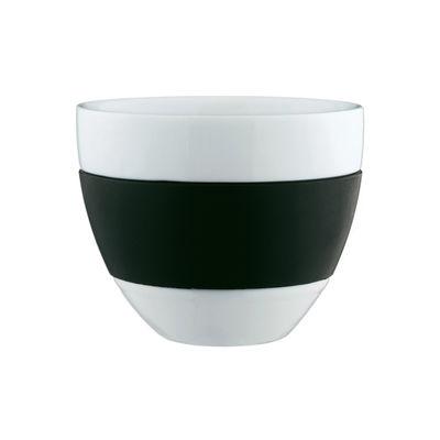 Arts de la table - Tasses et mugs - Tasse Aroma en porcelaine / Ø 10 x H 9 cm - Koziol - Noir - Polypropylène, Porcelaine