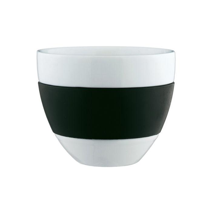 Tischkultur - Tassen und Becher - Aroma Tasse - Koziol - Schwarz - Polypropylen, Porzellan