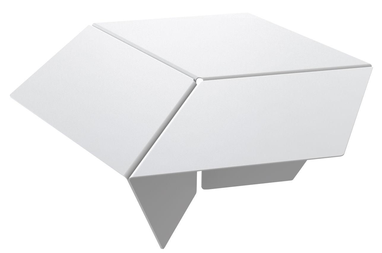 Arredamento - Tavolini  - Tavolino Kuban - / H 25 cm di Matière Grise - Bianco - Acciaio