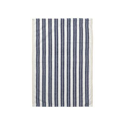 Cuisine - Tabliers et torchons   - Torchon Hale / 50 x 70 cm - Ferm Living - Blanc & bleu - Cotton, Lin