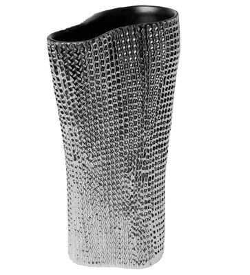Decoration - Vases - Cardboard Vase by Skitsch - Platinum / Grey interior - Ceramic