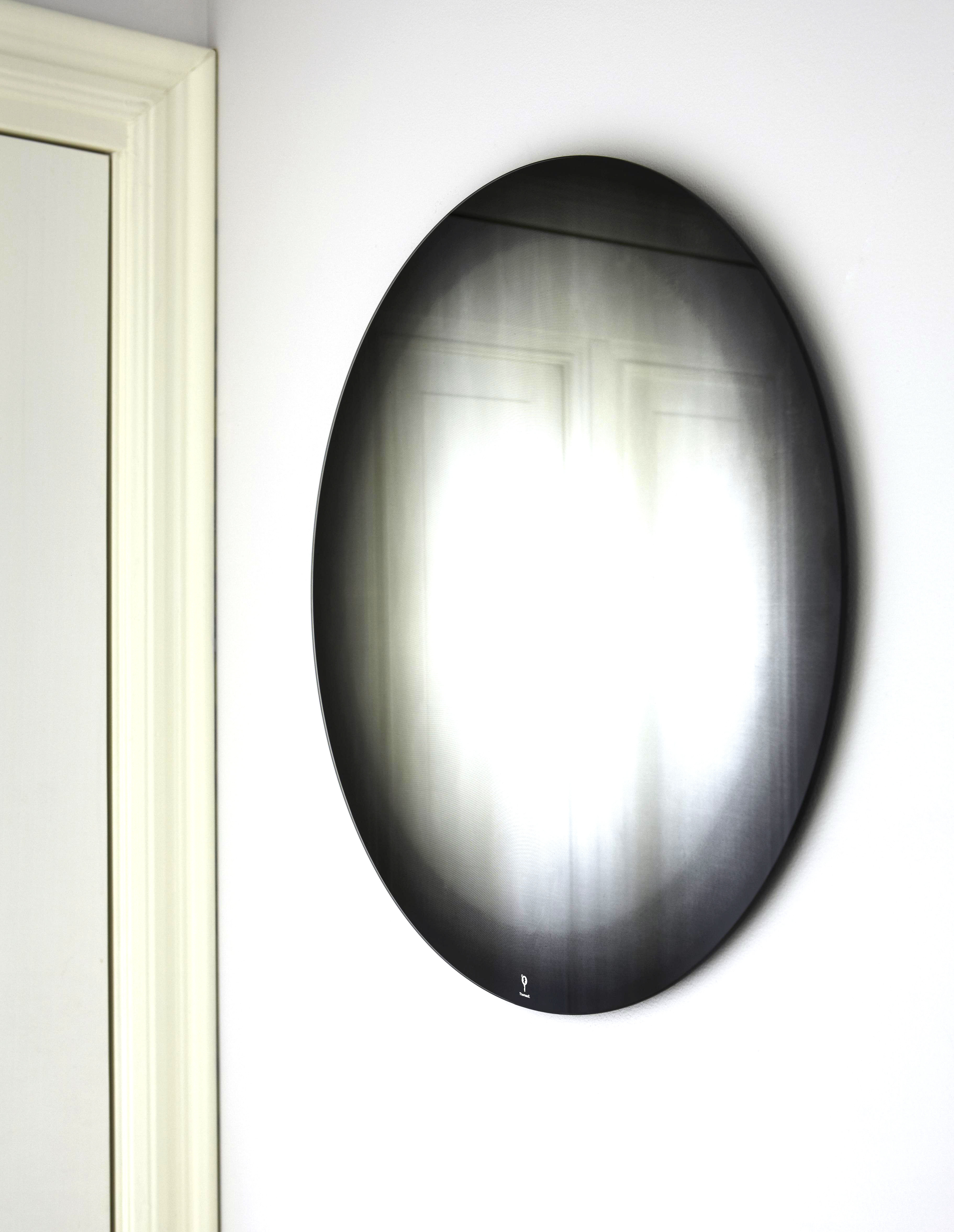 Furniture - Mirrors - Fading Small Wall mirror - Ø 55 cm by ENOstudio - Black - Glass, Silver