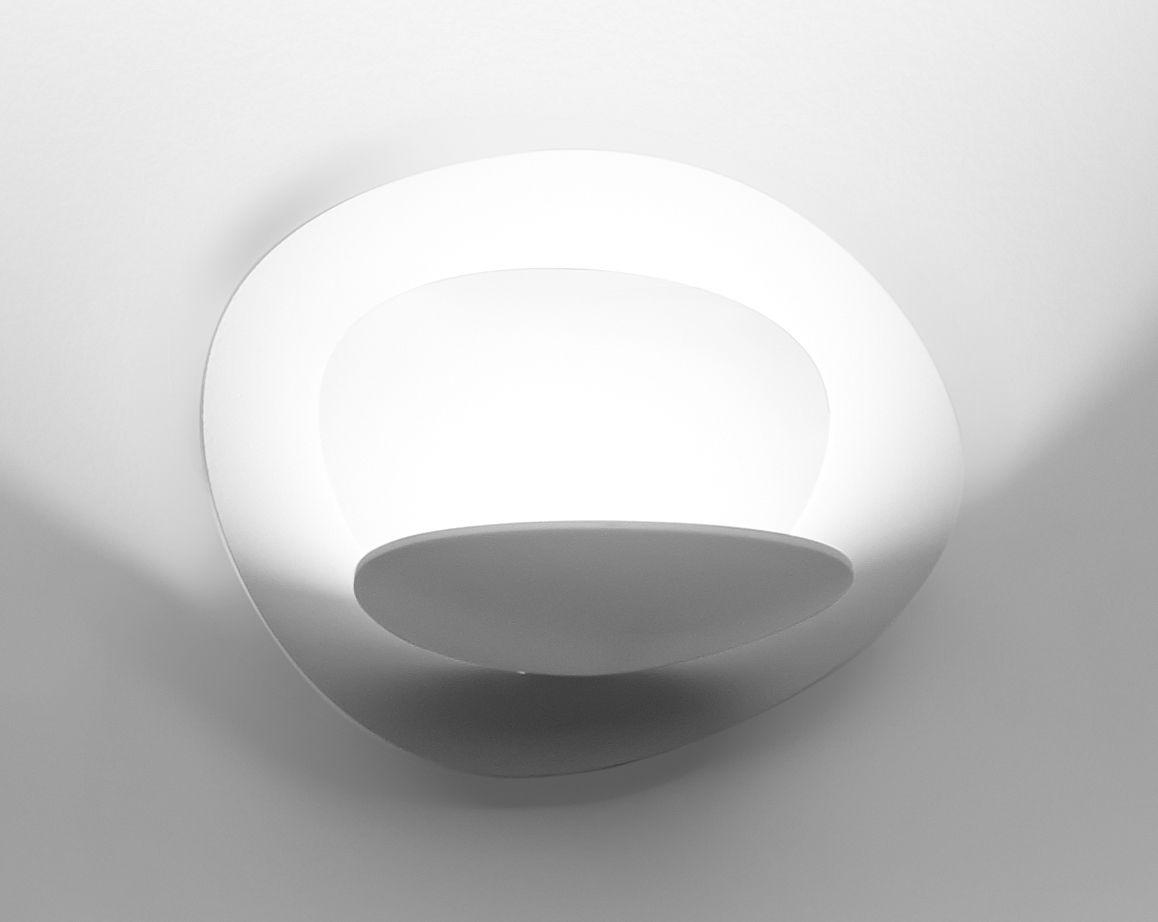 Luminaire - Appliques - Applique Pirce Micro LED / L 22 cm - Artemide - Blanc - Aluminium verni
