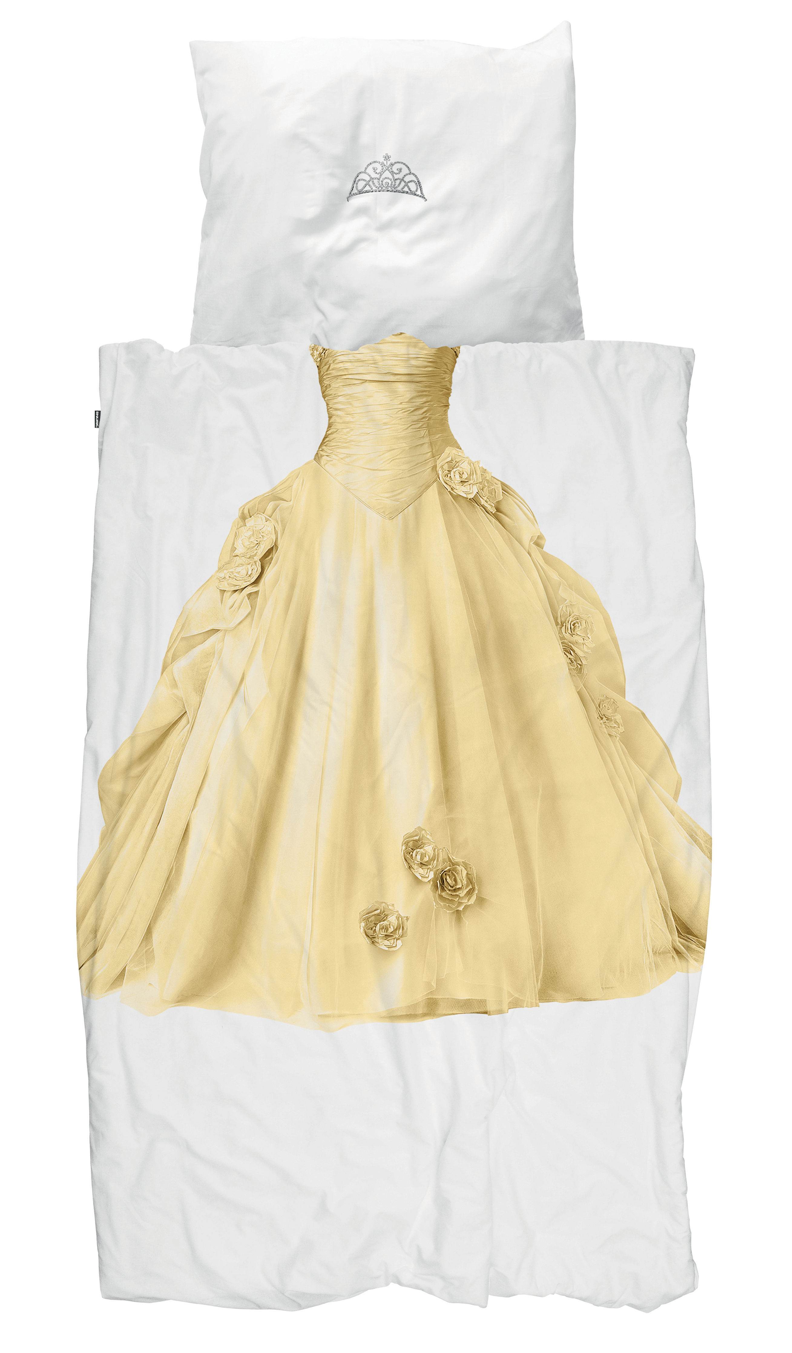 Dekoration - Für Kinder - Princesse Bettwäsche-Set für 1 Person / 140 x 200 cm - Snurk - Prinzessin / gelb - Baumwolle