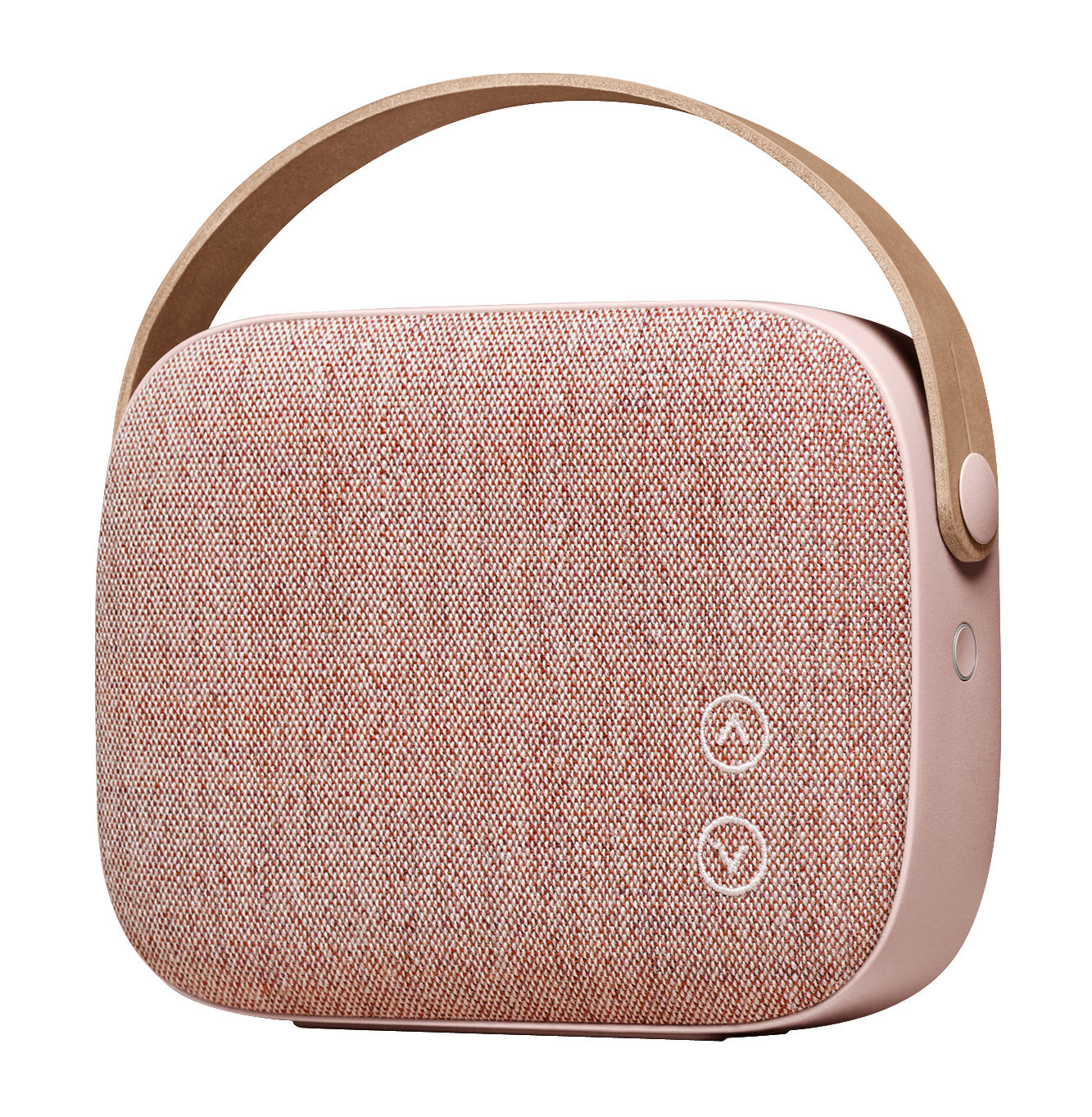 Product selections - Valentine's day - Helsinki Bluetooth speaker - Bluetooth / Fabric & leather by Vifa - Pink - Aluminium, Kvadrat fabric, Leather