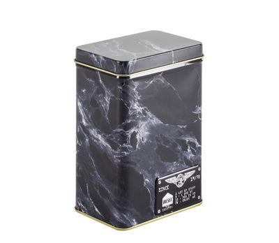 Boîte Alumarble Small / Métal effet marbre - Diesel living with Seletti or,noir marbré en métal