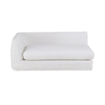 Canapé modulable Agorà / Module accoudoir Droite - L 160 cm - Unopiu blanc,blanc écru en matière plastique