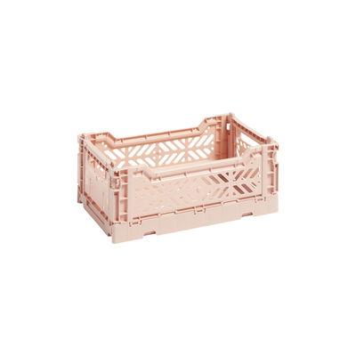 Image of Cestino Colour Crate - Small / 26 x 17 cm di Hay - Rosa/Arancione - Materiale plastico