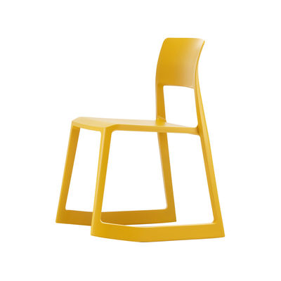 Furniture - Chairs - Tip Ton Chair - / Tilting & ergonomic by Vitra - Mango yellow - Polypropylene