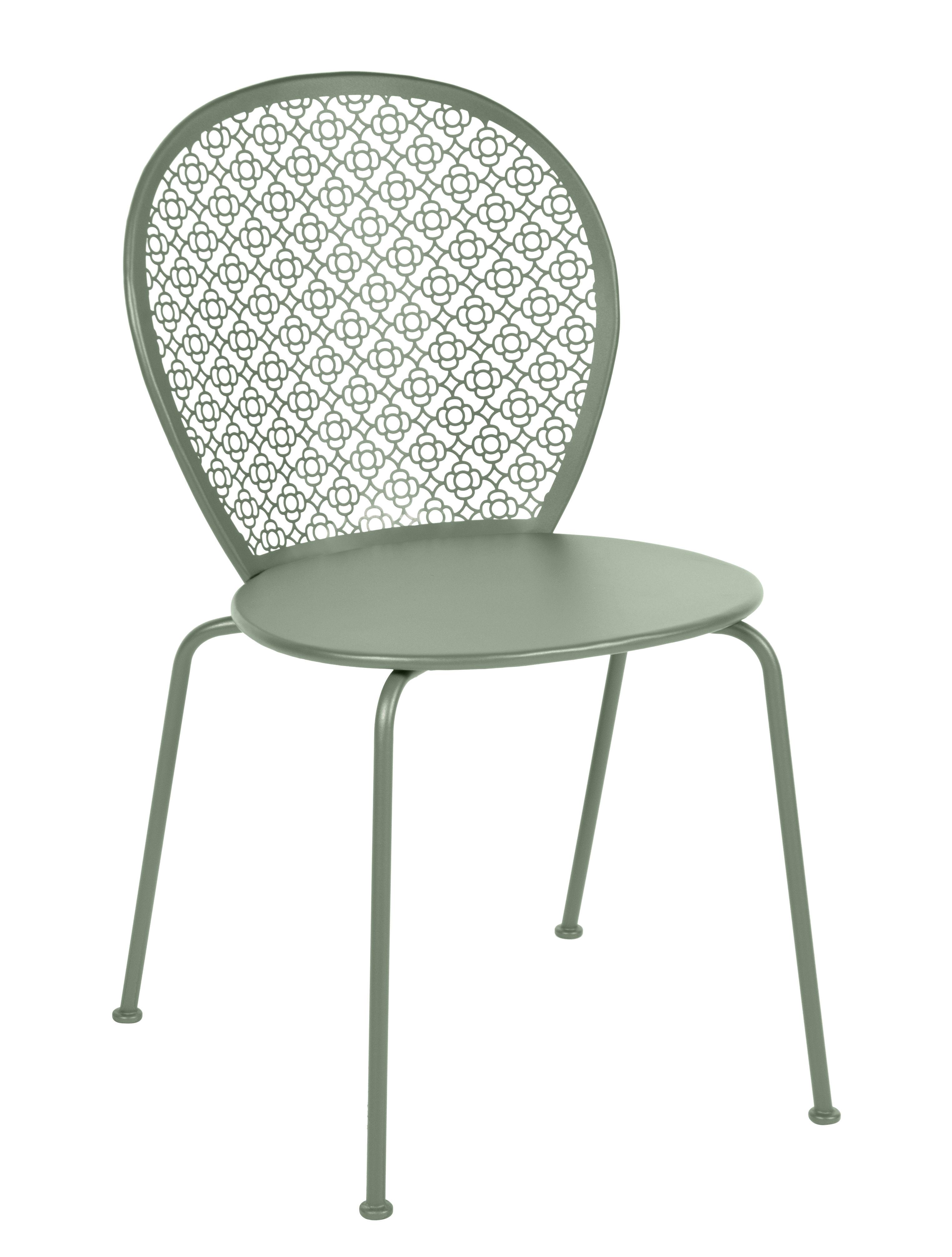 Mobilier - Chaises, fauteuils de salle à manger - Chaise empilable Lorette / Métal perforé - Fermob - Cactus - Acier laqué