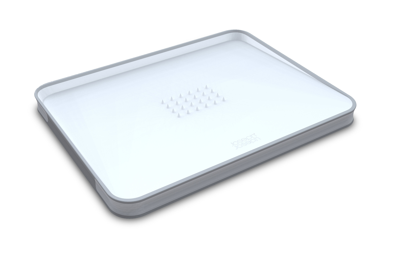 Kitchenware - Cool Kitchen Gadgets - Cut & Carve Chopping board - Large by Joseph Joseph - White - Polypropylene