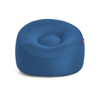 Chaise gonflable Lamzac O / Tissu - Ø 103 cm - Fatboy bleu pétrole en tissu