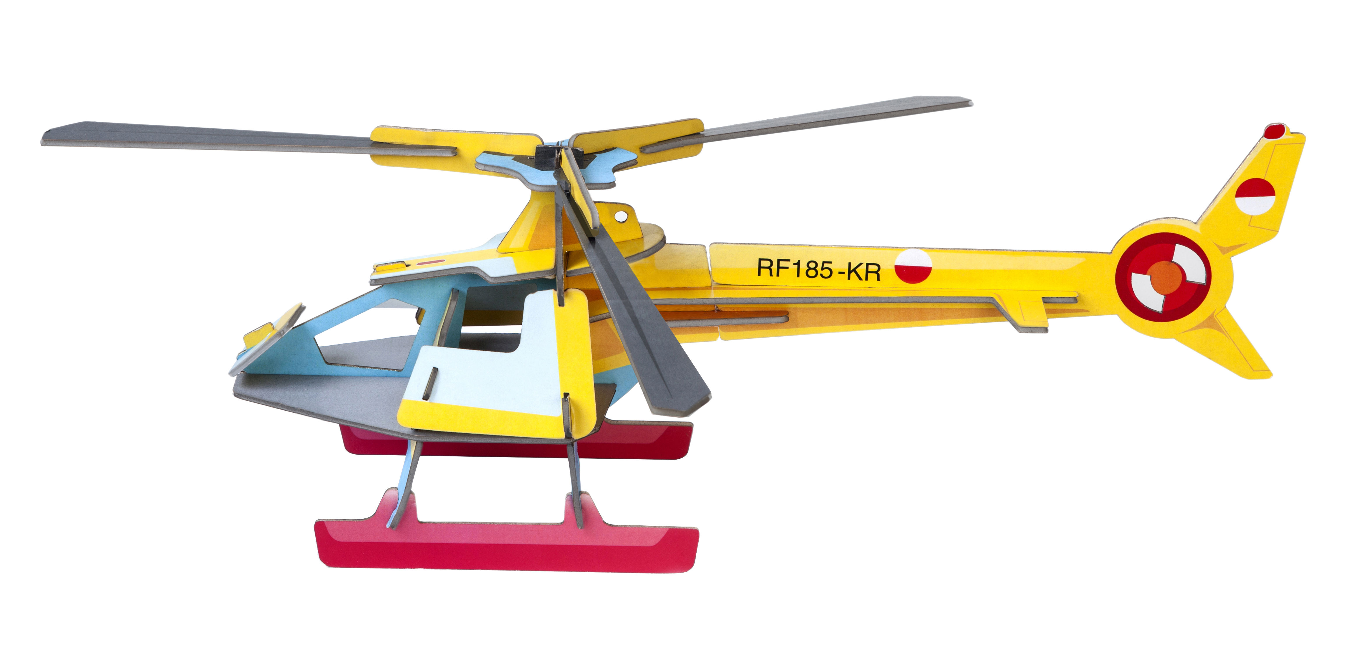 Déco - Pour les enfants - Figurine à construire Play! Hélicoptère / Carton - studio ROOF - Hélicoptère / Multicolore - Carton récyclé