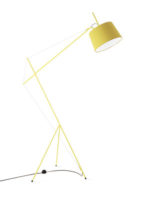 Lighting - Floor lamps - Elisabeth Floor lamp - H 158 cm by Hartô - Lemon yellow - Cotton, Steel
