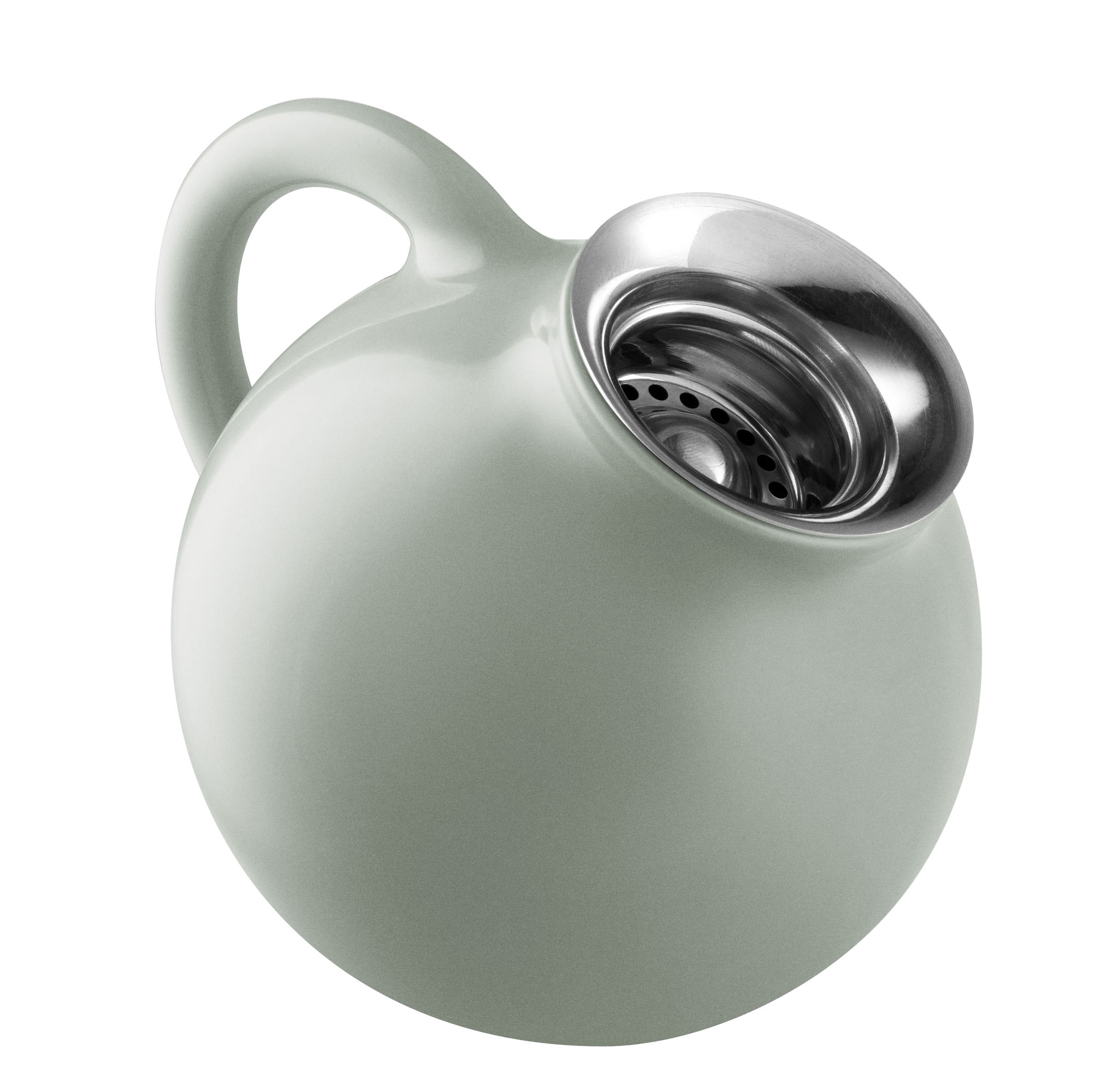 Tischkultur - Tee und Kaffee - Globe Milchtopf / 0,3 l - Steinzeug - Eva Solo - Nordisch-grün - rostfreier Stahl, Sandstein