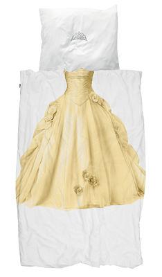 Parure de lit 1 personne Princesse / 140 x 200 cm - Snurk jaune en tissu