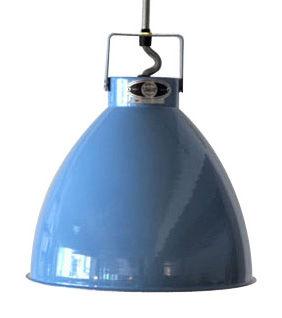 Leuchten - Pendelleuchten - Augustin Pendelleuchte Large / Ø 36 cm - Jieldé - Blau (glänzend) / Innenseite silbern - lackiertes Metall