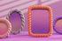 Braid Photo frame - / Round - Polyresin / Ø 13.5 cm by & klevering
