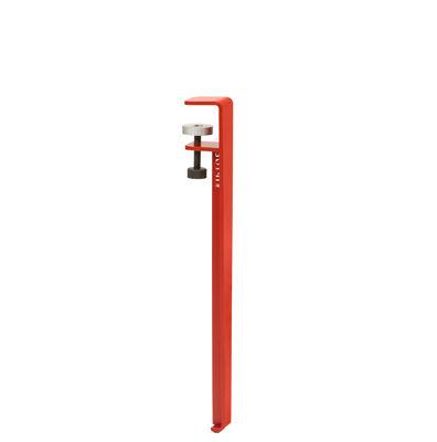 Pied avec fixation étau / H 43 cm - Pour créer tables basse & banc - TIPTOE rouge en métal